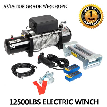 50 Self Recovery Winch - Ktaxon Classic 12500lbs 12V Electric Recovery Winch Truck SUV Wireless Remote