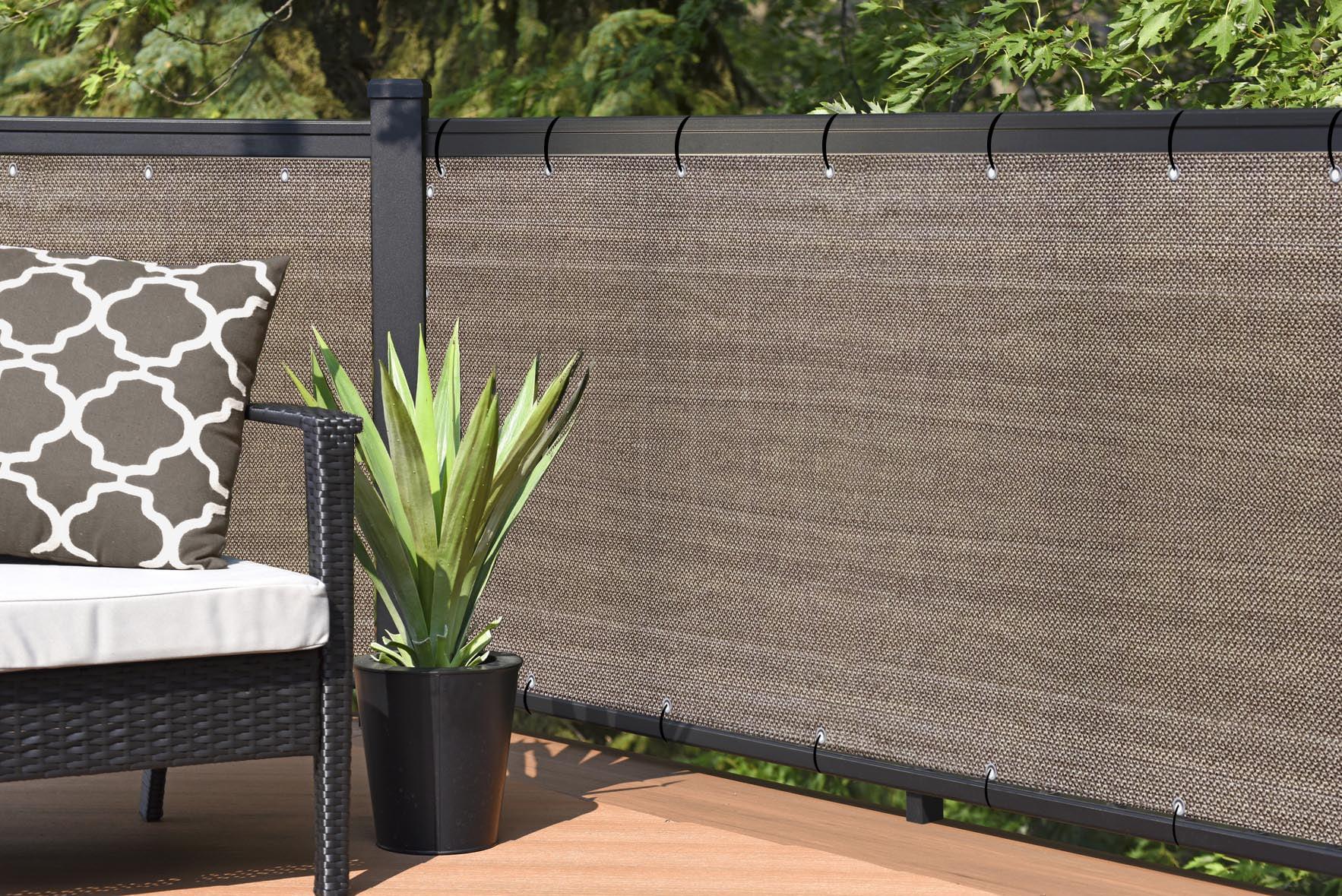 Walnut Outdoor Elegant Privacy Screen for Backyard Fence ...