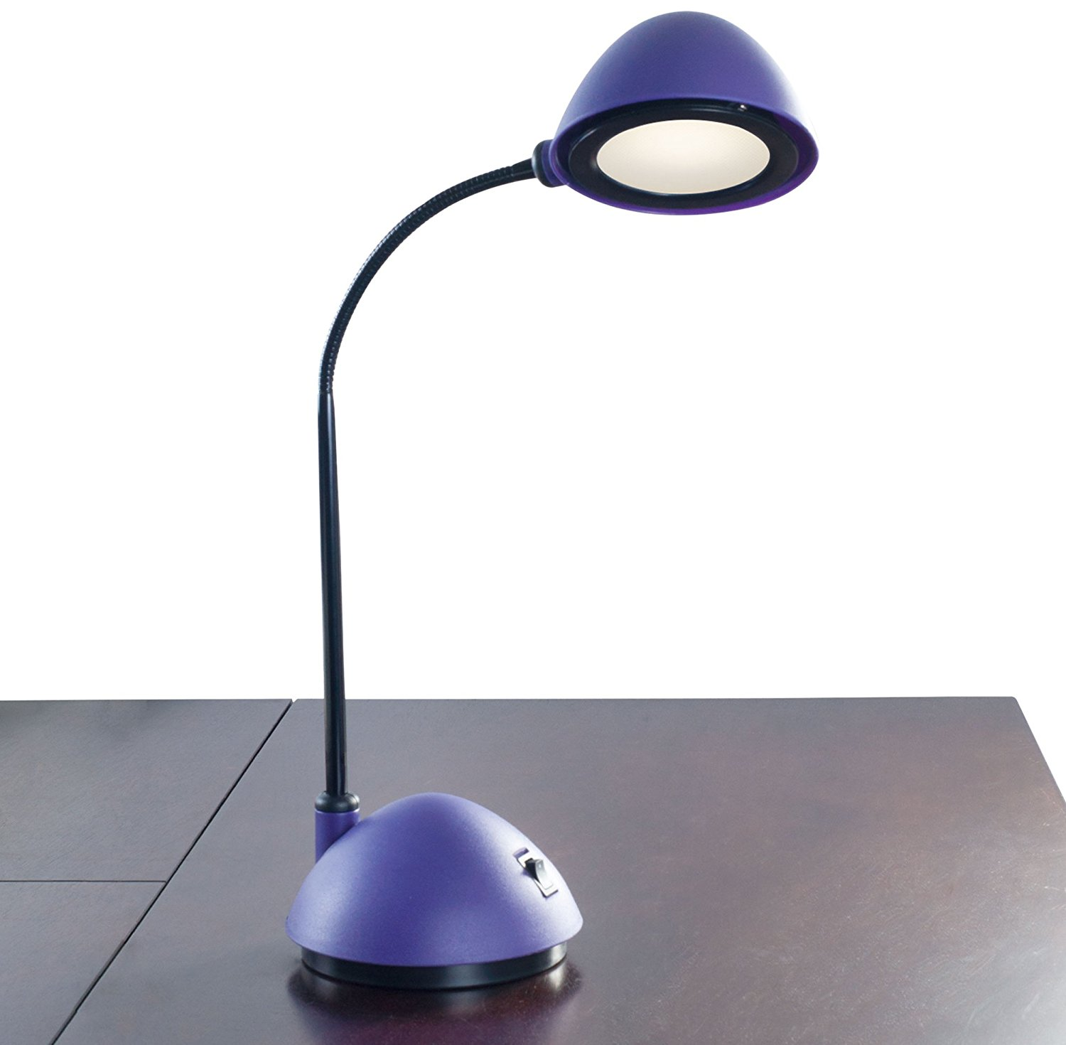 "Bright Energy Saving LED Desk Lamp, Purple (21""), Super Bright LED Desk Lamp, Bendable Goose Neck By Lavish Home From USA"