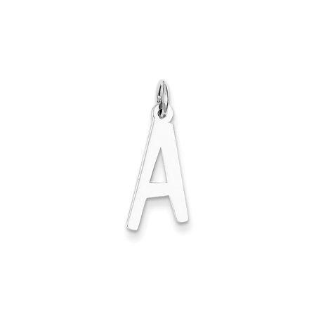 Roy Rose Jewelry Sterling Silver Large Slanted Block Initial Letter A