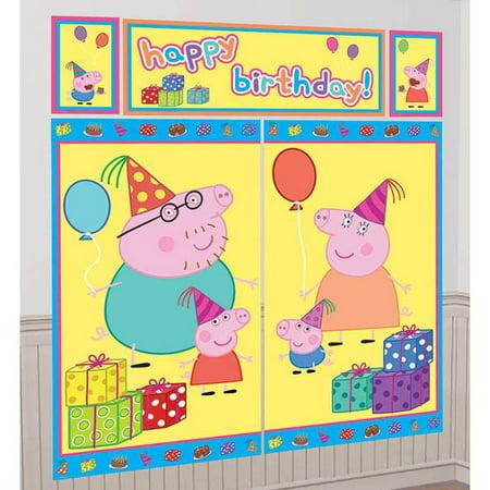 Peppa Pig Scene Setter - Peppa Pig Birthday Supplies