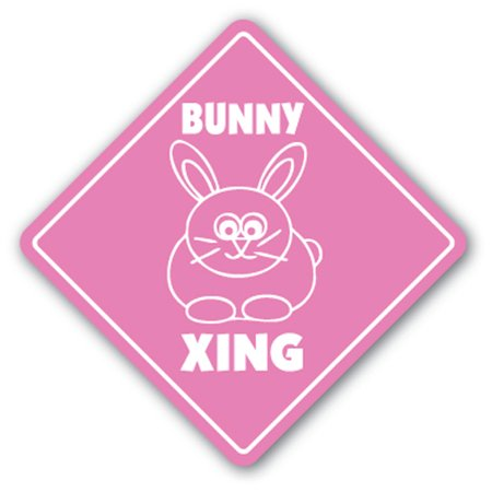Bunny Crossing Sign Xing Gift Novelty Rabbit Cage Food Supplies Fair Contest
