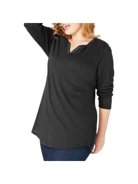 c41e6610e9 Product Image Women s Plus Size Lightweight Split V-neck Tunic