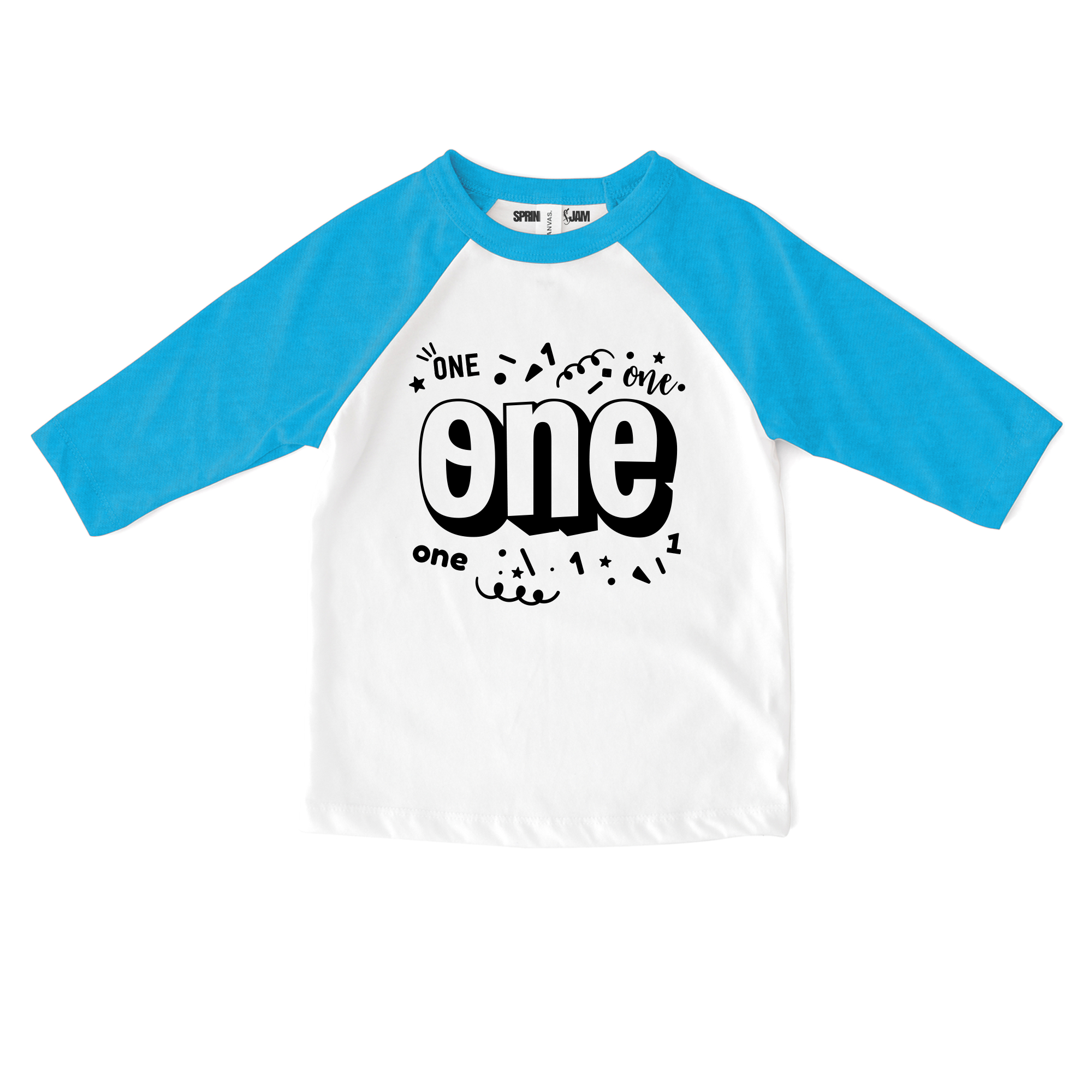"Sprinkles And Jam ""Confetti One"" 1st Birthday Boy Shirt Raglan Birthday Outfit"