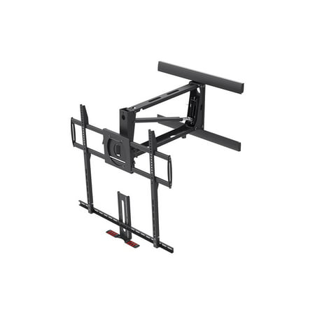 """Monoprice Extra Large Above Fireplace Height Adjustable Swivel TV Pull Down Mantel Wall Mount for LCD LED Plasma Screen Displays 55""""to 100""""   Maximum weight 154lbs   VESA 200x200 up to 800x400"""