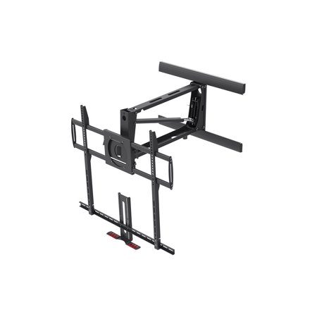"Monoprice Extra Large Above Fireplace Height Adjustable Swivel TV Pull Down Mantel Wall Mount for LCD LED Plasma Screen Displays 55""to 100"" 