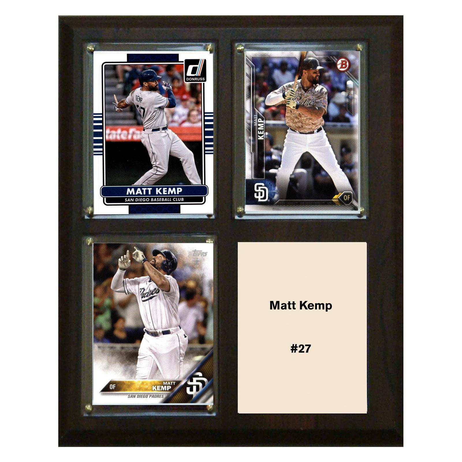 "C & I Collectables MLB 8"" x 10"" Matt Kemp San Diego Padres 3-Card Plaque"