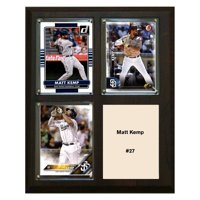 "C & I Collectables MLB 8"" x 10"" Matt Kemp San Diego Padres 3-Card Plaque"