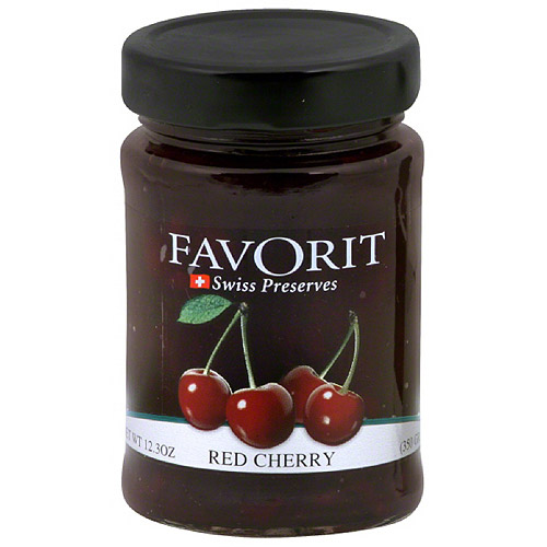 Favorit Swiss Red Cherry Preserves, 12.3 oz (Pack of 6)