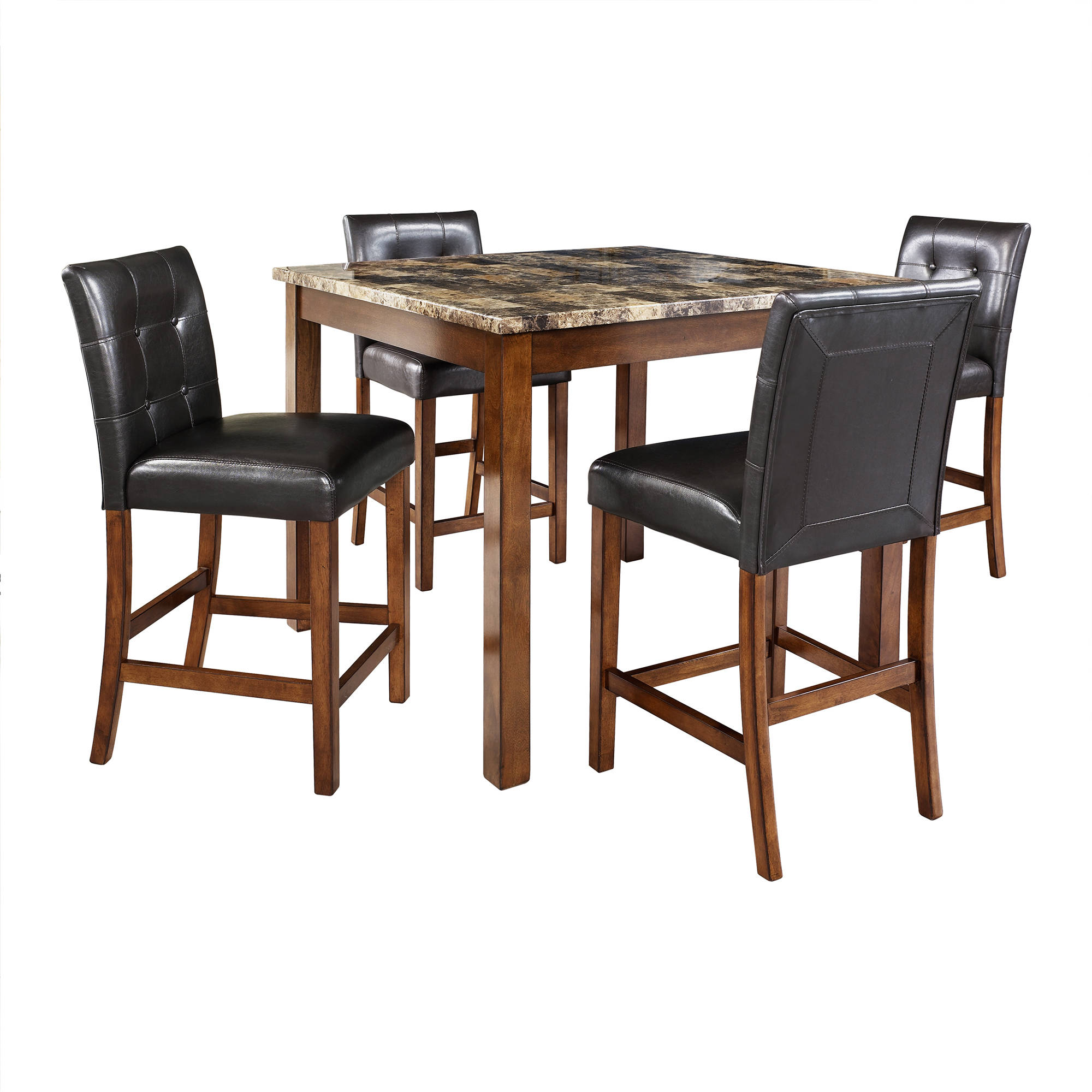 Lovely Dorel Living Andover 5 Piece Faux Marble Counter Height Dining Set,  Multiple Colors   Walmart.com