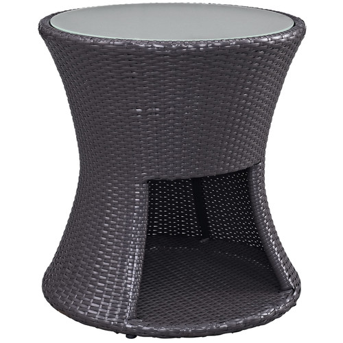 Beautiful Modway Strum Patio Outdoor Patio Side Table In Espresso