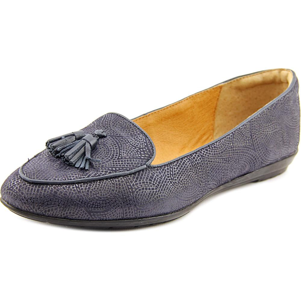 Sofft Bryce Women Apron Toe Leather Blue Loafer by Sofft