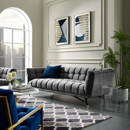 Modway Adept Velvet Upholstered Sofa, Multiple Colors ()