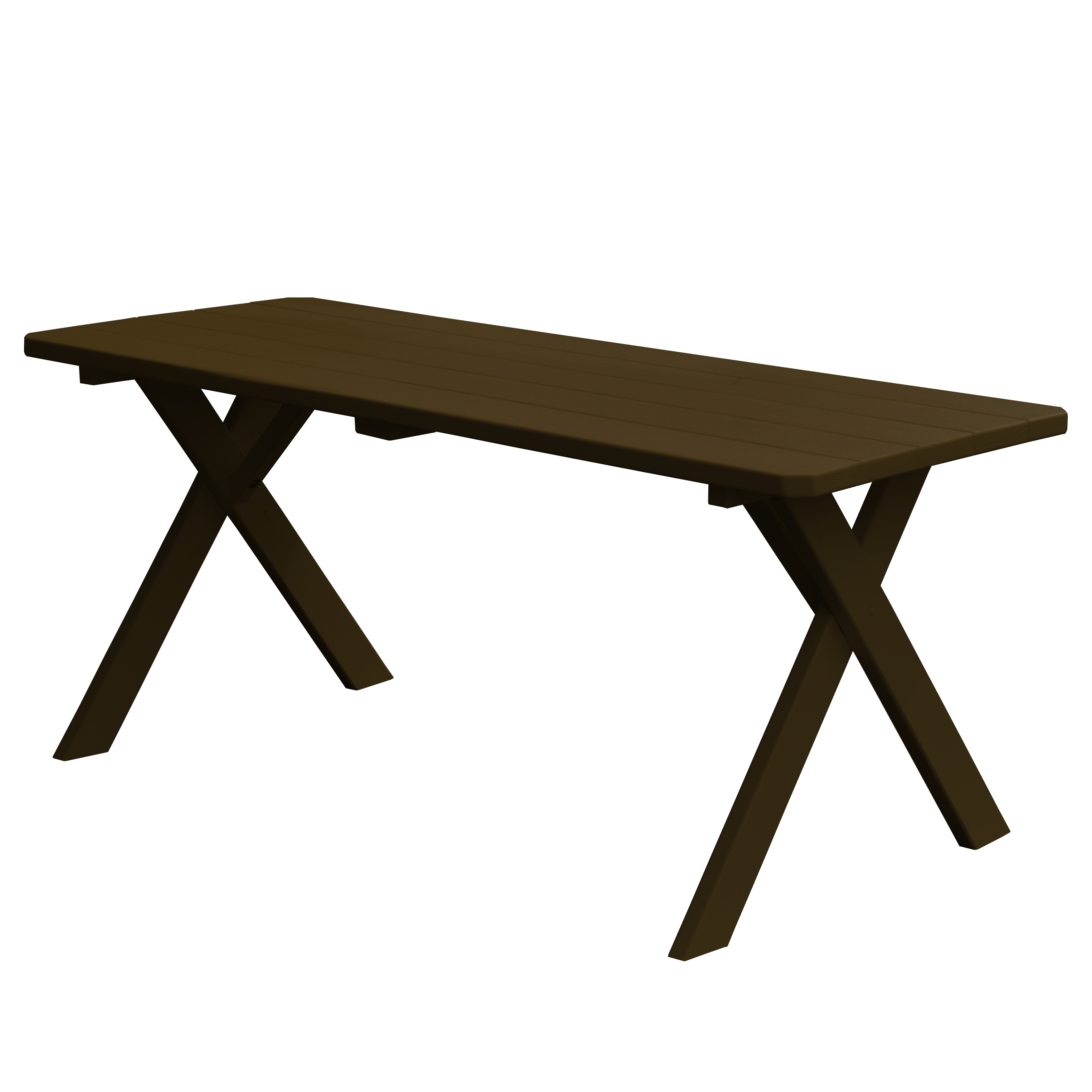 Image of 4 foot Cross-leg Wooden Table
