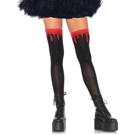 Blood Dripping Thigh Highs Halloween Costume Accessory