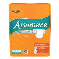 Assurance Incontinence Stretch Briefs With Tabs, Unisex, S/M, 40 Ct
