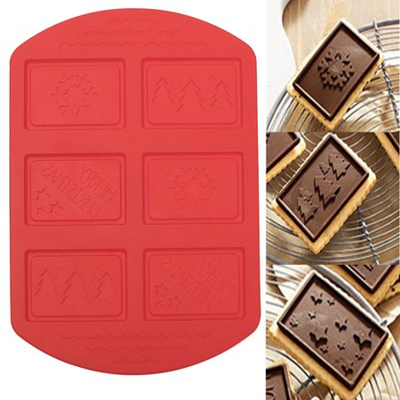 Silicone Christmas Tree Cake Decorating Fondant Cookies Baking Mat Mould (Mama Bake The Johnny Cake Christmas Coming)