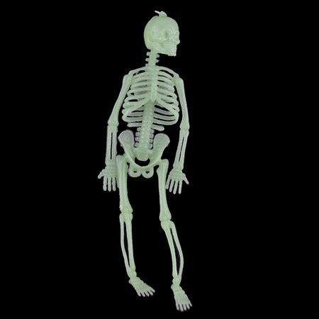 Halloween Skeleton Body Parts (AkoaDa New Style Mini 20 Cm Luminous Skull Skeleton Body Scary Halloween Toy Haunted House Tricky Prop Party Glow Skull Bar)