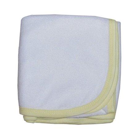 Bambini Baby Unisex Yellow Printed Terry Hooded Infant Bath Towel Bulk
