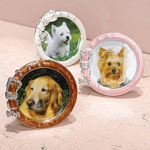 "Dog Collar Photo Frame - 3"" x 3"" by Two's Company - 8149-20"
