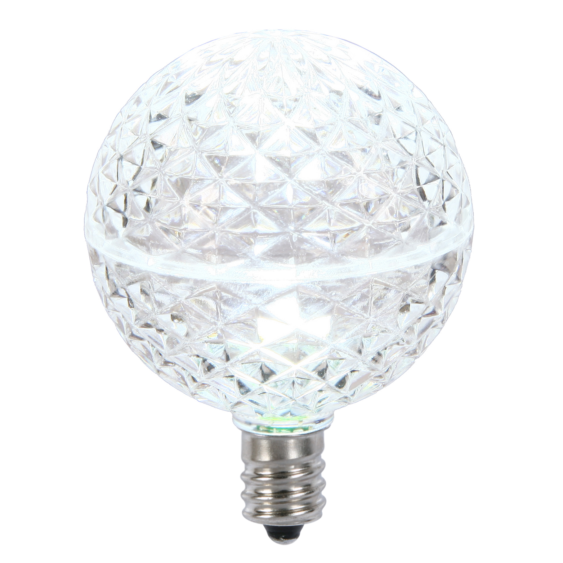 Vickerman G50 Faceted LED Cool White Replacement Bulb E12 .38W