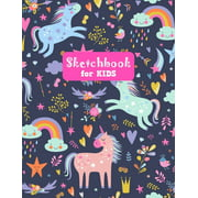 Sketchbook for Kids: Unicorn Adorable Unicorn Large Sketch Book for Sketching, Drawing, Creative Doodling Notepad and Activity Book - Birthday and Christmas Gift Ideas for Kids, Boys, Girls, Teens and