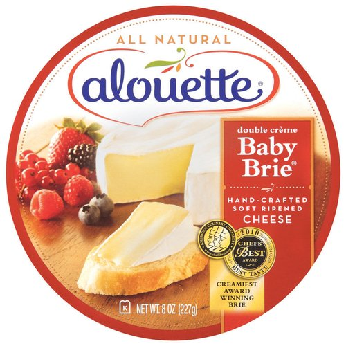 Alouette Double Creme Baby Brie Soft Ripened Cheese, 8 oz