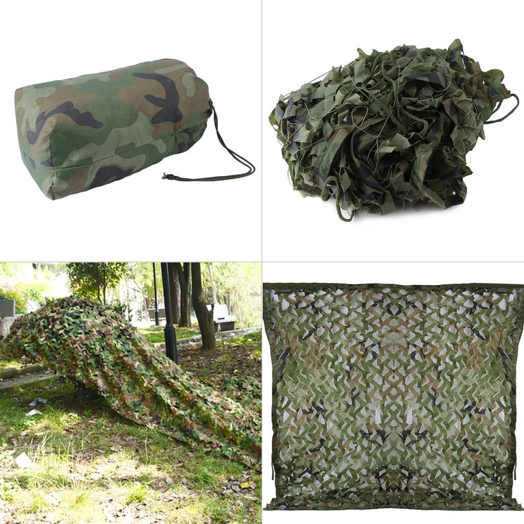 Camouflage 20 X 5 Feet Woodland Leaves Military Camouflage Net Hunting String Netting Hunting Military Army Camouflage... by LESHP