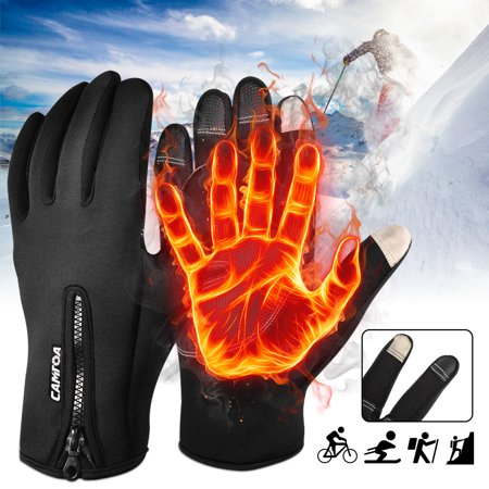 Unisex Touch Screen Winter Full Finger Gloves Soft Shell Winter Cold Weather Cycling Motorcycle Insulated Touchscreen Ski Freestyle Gloves Outdoor