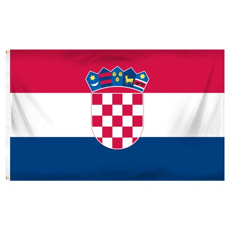 Croatia 3ft x 5ft Printed Polyester Flag