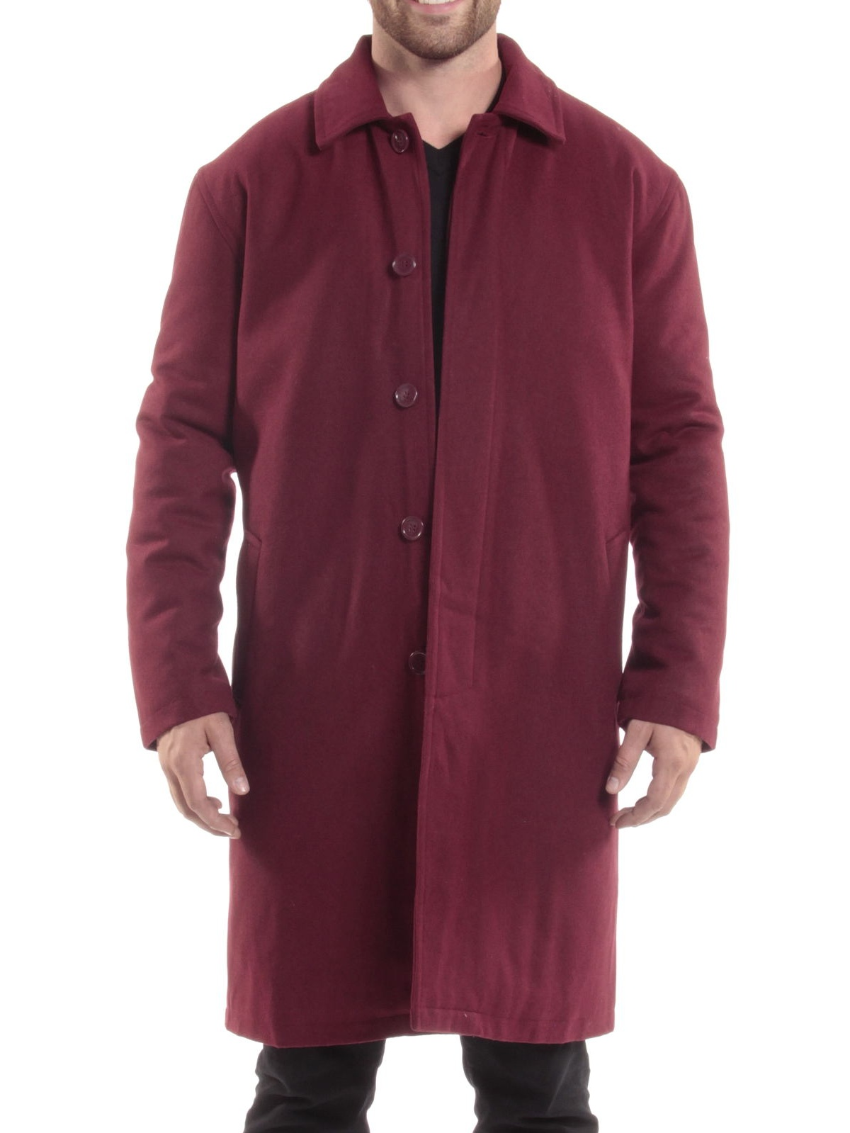 Alpine Swiss Men's Zach Knee Length Jacket Top Coat Trench Wool Blend...