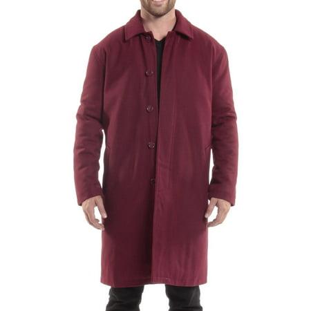 (Alpine Swiss Men's Zach Knee Length Jacket Top Coat Trench Wool Blend Overcoat)