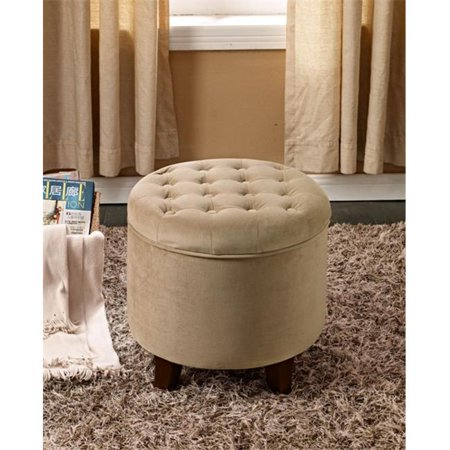 Excellent Comfortly K6171 B117 Large Round Button Tufted Storage Ottoman Ocoug Best Dining Table And Chair Ideas Images Ocougorg