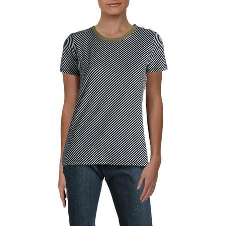 Lauren Ralph Lauren Womens Lanovya Cotton Striped T-Shirt