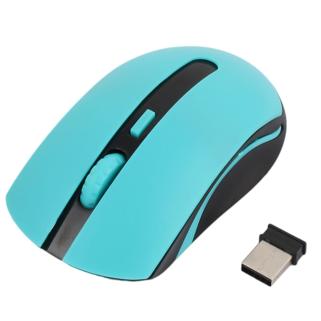3 Buttons Red LED Tracker USB Mobile Optical Wireless Mouse Computer Blue