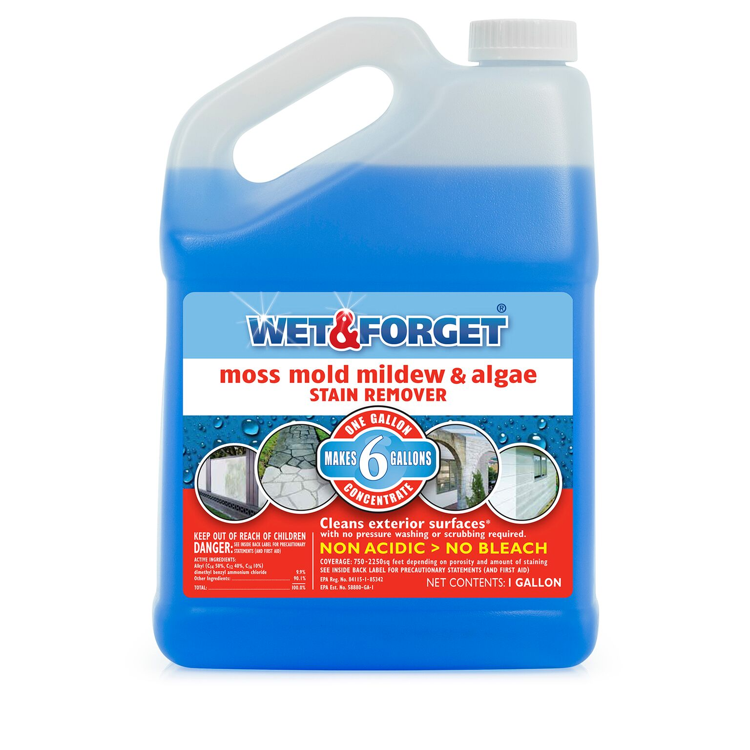 Wet And Forget 800006, 1 Gallon Concentrate