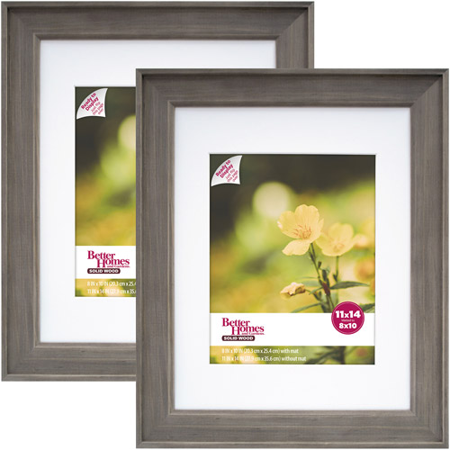 Better Homes and Gardens 11x14/8x10 Rustic Wood Picture Frame, 2pk