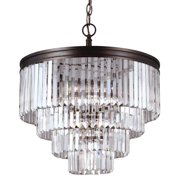 Sea Gull Lighting 3114006 Carondelet 6 Light 4 Tier Chandelier