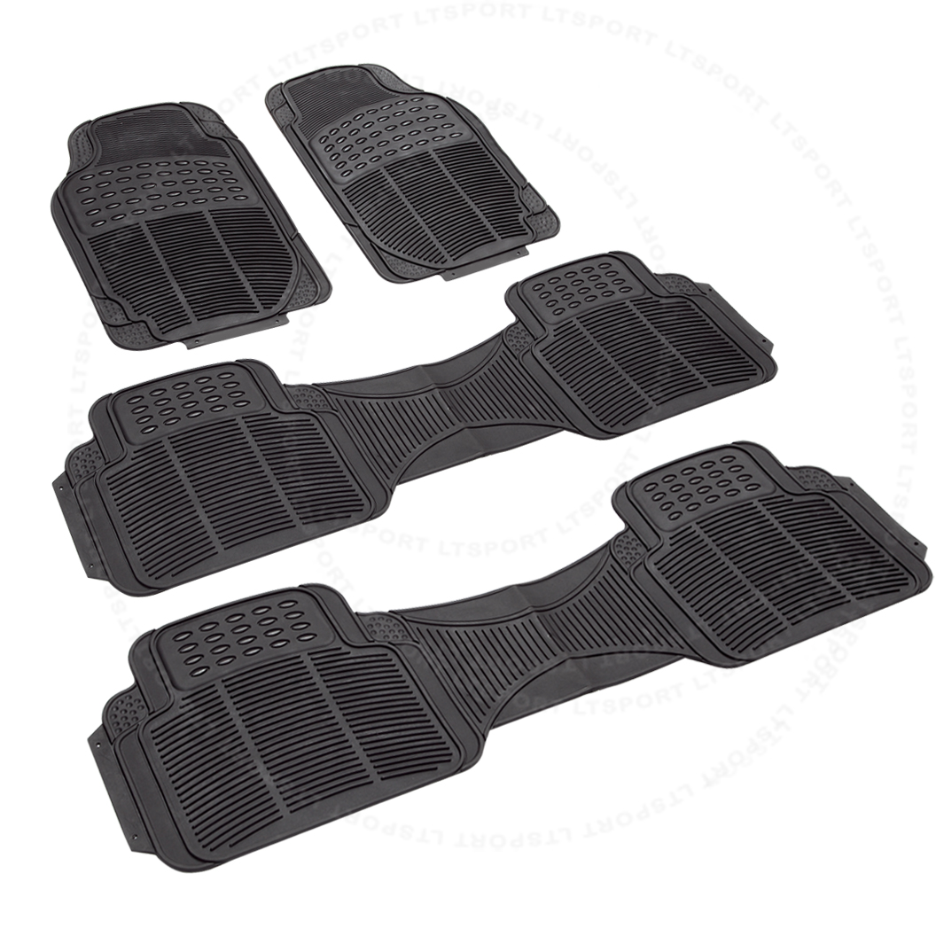 Fit 92-14 CHRYSLER TOWN & COUNTRY/VOYAGER WATERPROOF 3-ROW RUBBER FLOOR MATS 4PCS Fit Chrysler Town & Country Voyager 19