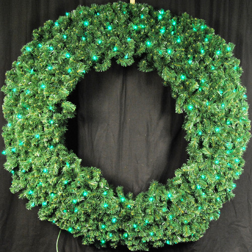 Queens of Christmas Pre-Lit LED Blue Sequoia Wreath