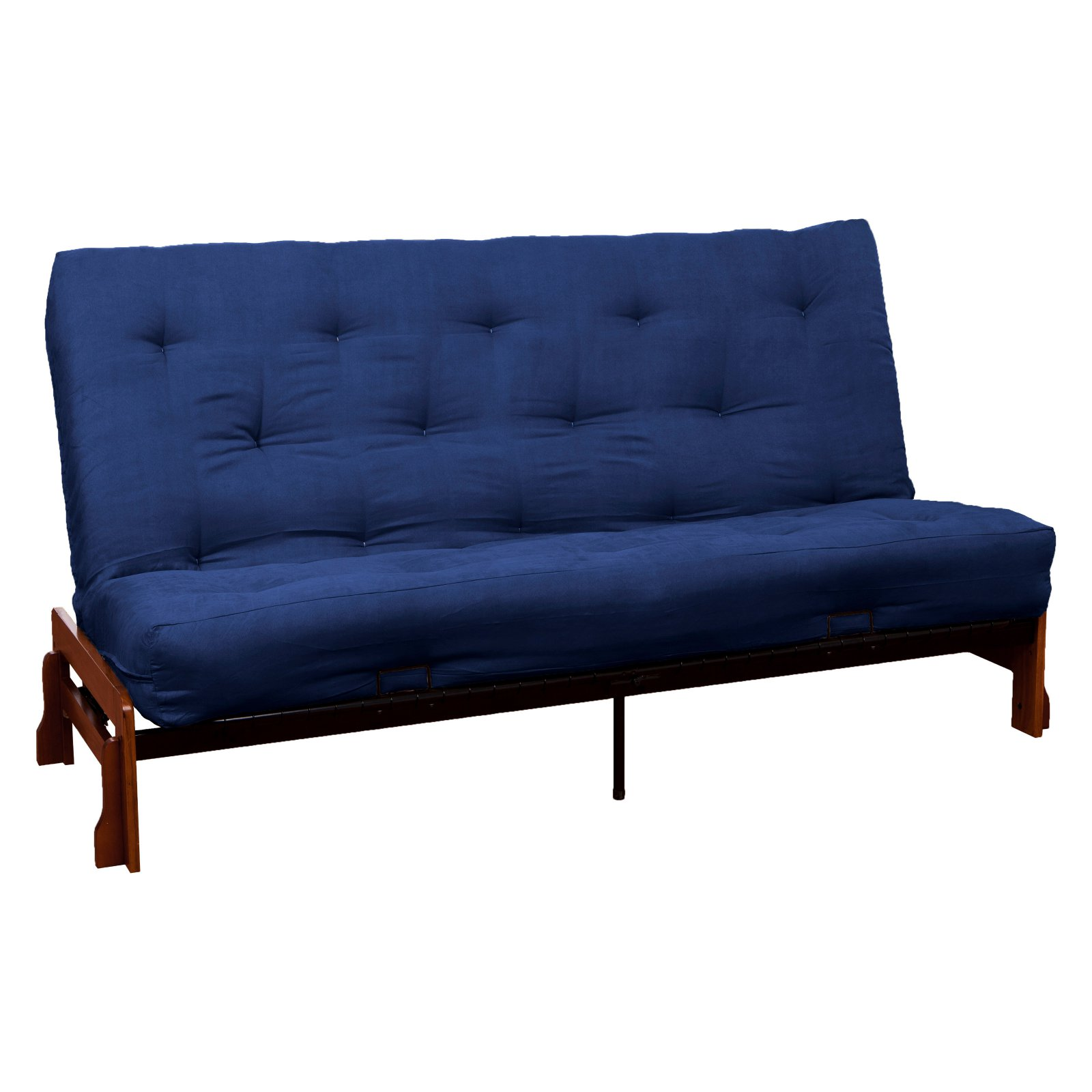 Epic Home Furnishings Loft Armless 10 in. Suede Inner Spring Futon Sofa