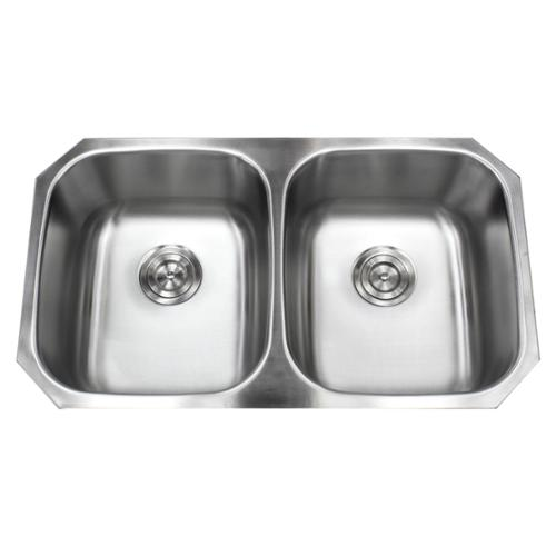 Contempo Living Inc Stainless Steel Undermount 32.5 Inch 50/50 Double Bowl  Kitchen Sink