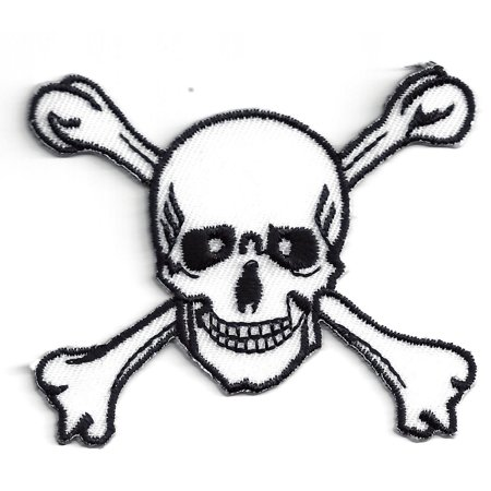 Skull Icon - Large - Skull and Crossbones - Iron on Applique/Embroidered Patch