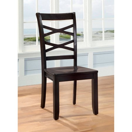 Criss Cross Dining Chair (Furniture of America Levana 2-Piece Transitional Criss-Cross Dining Chair, Multiple)