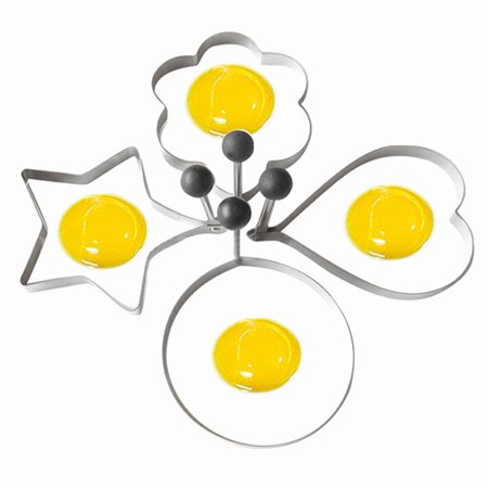 Egg Mold - Girl12Queen Stainless Steel Fried Egg Shaper Ring Pancake Mould Mold Cooking Kitchen Tools