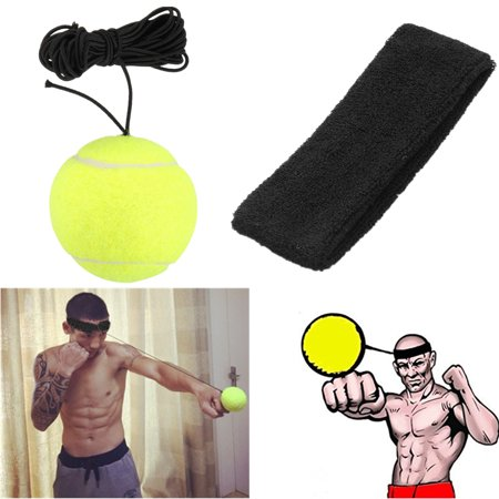 Fight Ball with Head Band Breathable /Half Finger Boxing Gloves For Reflex Speed Training Boxing MMA Punch