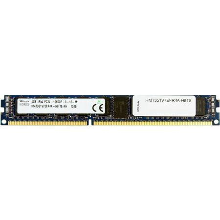 HYNIX Server Memory DDR3L 4GB 240-Pin VLP Low Profile RDIMM Registered ECC DDR3L-1333 CL9 (PC3-10600) 1Rx4 1.35V Model HMT351V7EFR4A-H9T8 1333 Server Memory Model