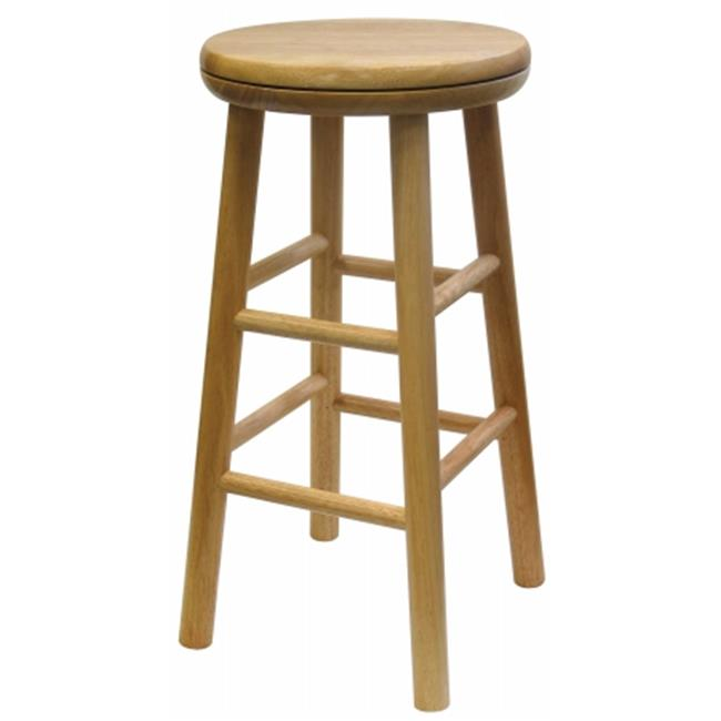 Winsome Trading Inc 88324 24 in. Natural Swivel Bar Stool - Pack of 2