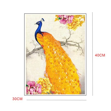 outdoorline DIY Full Drill Animal Crystal Painting Rhinestone Embroidery Diamond Hallway Needlework Picture Family Home Cross Stitch - image 4 of 9