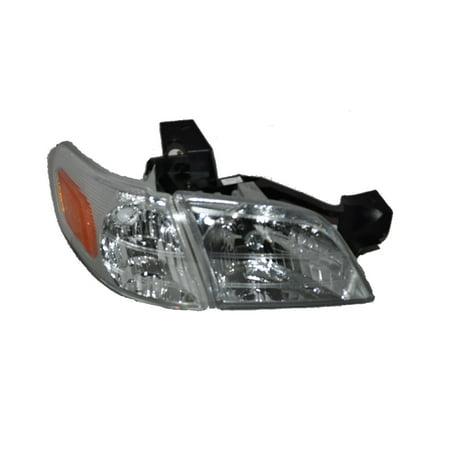 Montanas Flat Head (Venture Montana Trans Sport Silhouette Passenger Side Headlight w/Corner Light GM2503175 )